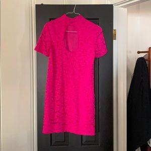 Trina Turk lace keyhole back dress